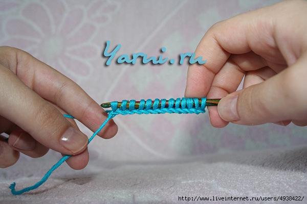 Тунисское вязание простая плетенка 69