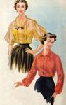 Превью Копия Журнал мод 1954 года_Блузки (198x315, 83Kb)
