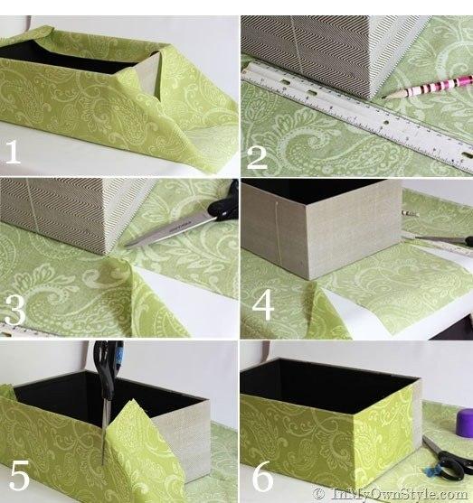 Коробка своими руками из обоев