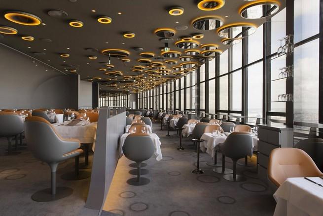 креативный дизайн интерьера ресторан Ciel de Paris 7 (655x437, 168Kb)