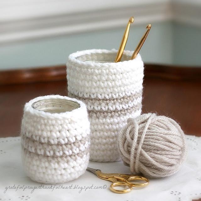 crochet glass jar cozy cozies 7796wm (640x640, 93Kb)