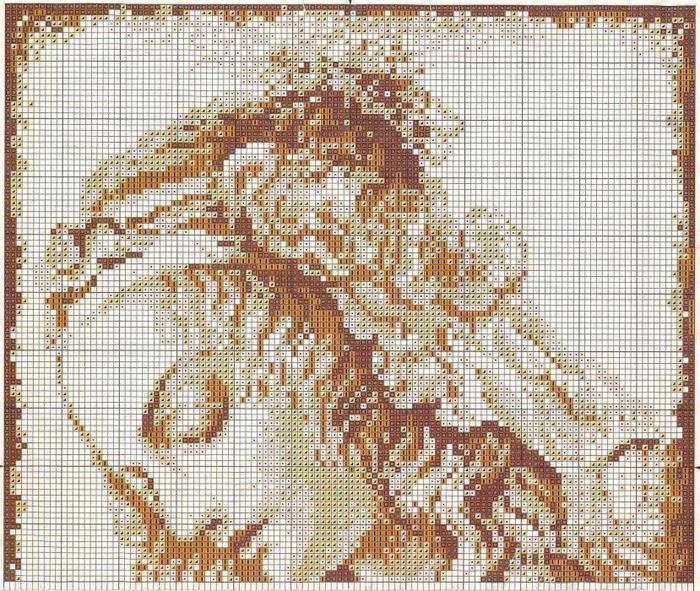 Схемы вышивки крестом в леонардо 880