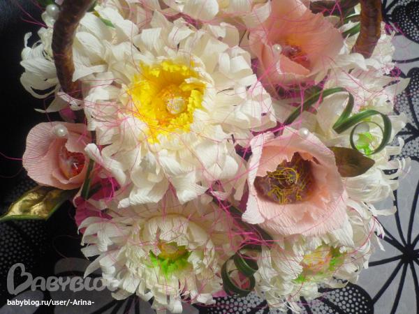 Букет из хризантемы с конфетами своими руками фото 51