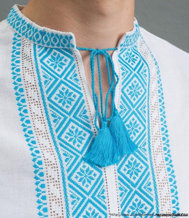 Вышивка женских рубашек крестом