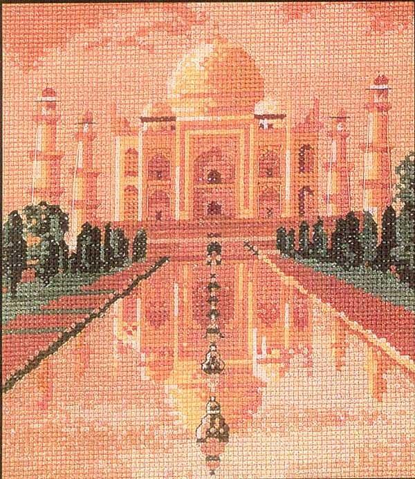 Тадж-Махал в розовых тонах (600x693, 169Kb)