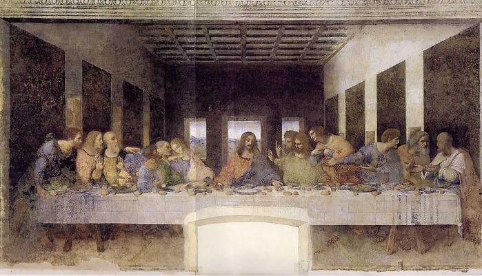 Тайная вечеря  - Леонардо (699x401, 125Kb)