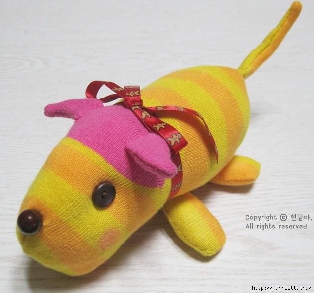 игрушки из носков. собачка (1) (634x592, 184Kb)