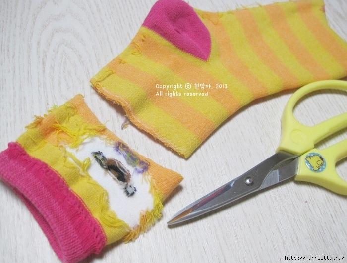 игрушки из носков. собачка (9) (700x531, 204Kb)