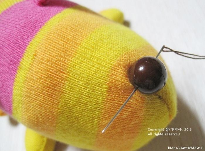 игрушки из носков. собачка (21) (700x515, 216Kb)