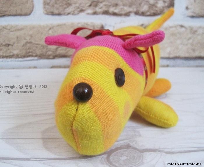 игрушки из носков. собачка (25) (700x573, 186Kb)