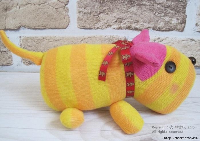 игрушки из носков. собачка (27) (700x492, 197Kb)