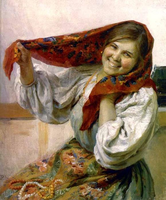сычков. портрет крестьянки (579x700, 314Kb)