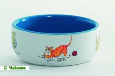Миска для кошек фарфоровая I.P.T.S. Играющие кошки (0,25л 11,5см) (384x255, 13Kb)