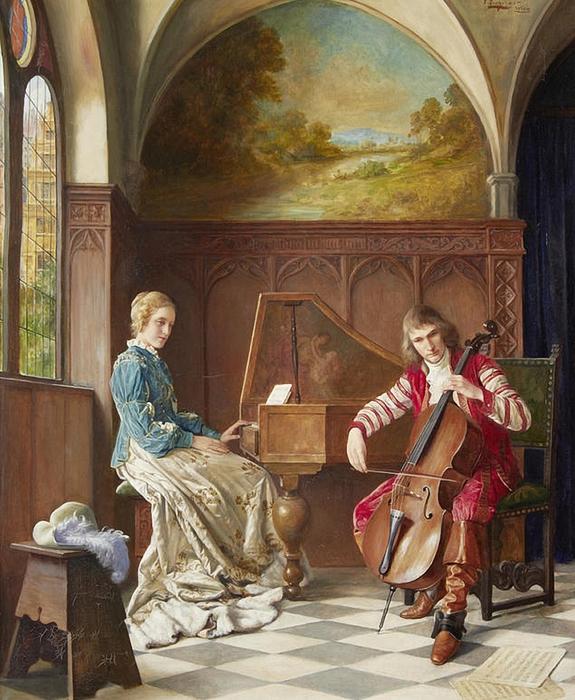 A Musical Duet. Erwin Eichinger (Austrian, 1892-1950). (575x700, 333Kb)