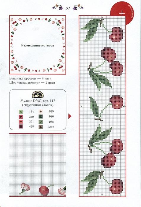 Схемы для вышивки крестиком для полотенец 39