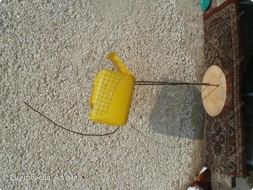 журавль из пластиковых бутылок (5) (520x390, 92Kb)