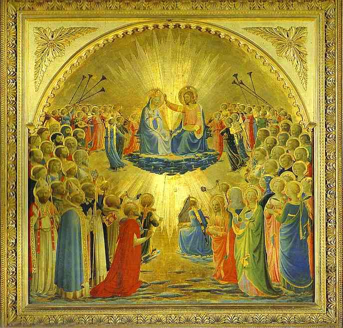 Fra Angelico - The Coronation of the Virgin (1) (687x656, 73Kb)