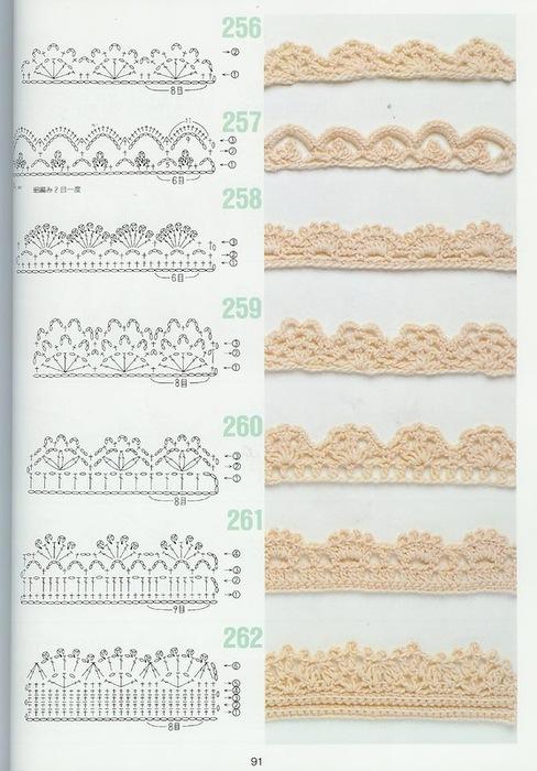 схемы узоров крючком6 (488x700