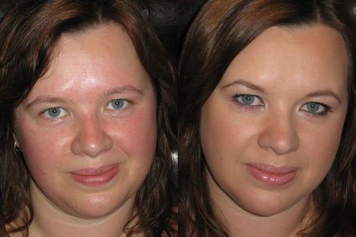 Как похудеть лицо с помощью макияжа