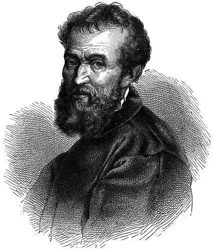 Vикеланджело Буонарроти  Mikelandzhelо  Buonarroti (425x500, 63Kb)
