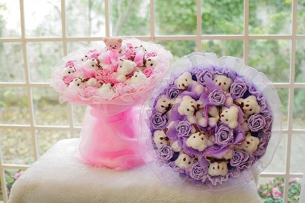 Букет цветов из атласных лент мастер класс