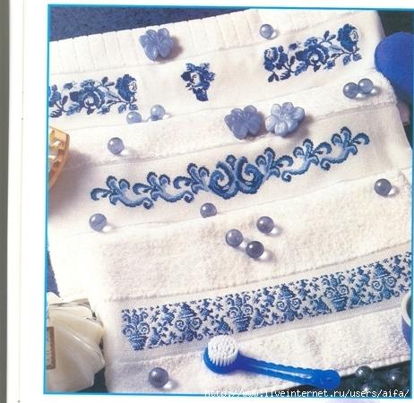 Подушка гжель вышивка крестом схемы