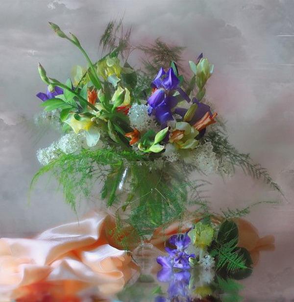 Karma çiçekler vazoda çiçekler stil life çok güzel çiçek