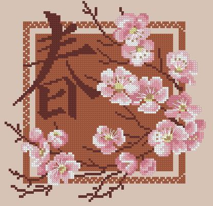 Японские мотивы вышивка крестиком