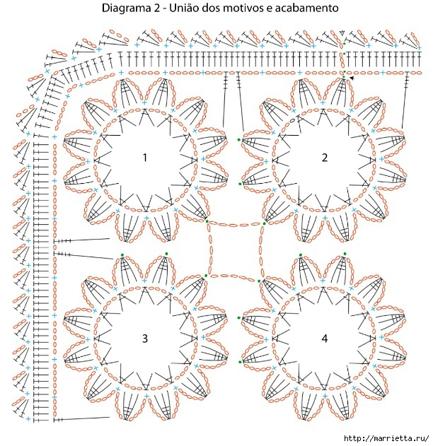 manteles atar hermosas y almohadas.  Ganchillo (2) (612x631, 318KB)
