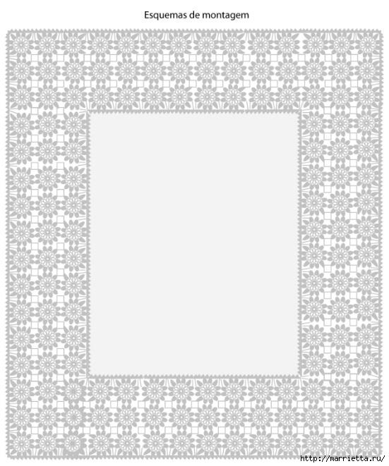 Красивая обвязка скатерти и подушки. Вязание крючком (4) (551x661, 192Kb)