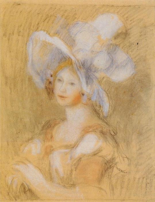 Амели Dieterie в белой шляпе, 1894 (539x700, 268Kb)