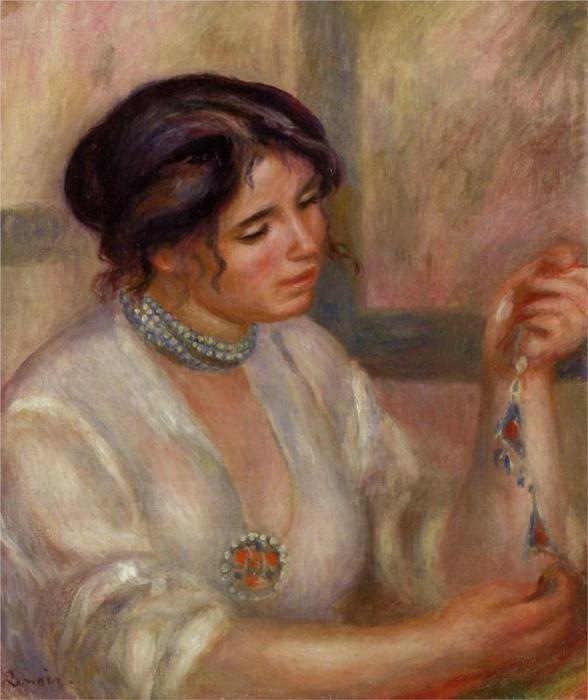 Женщина с ожерельем, 1910 (588x700, 47Kb)