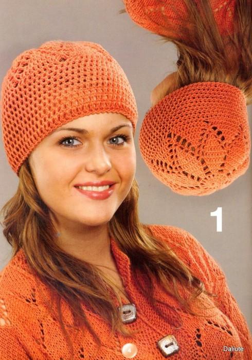 Ажурная шапочка крючком схема