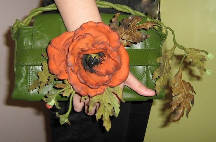 Цветы из кожи своими руками фото мастер класс