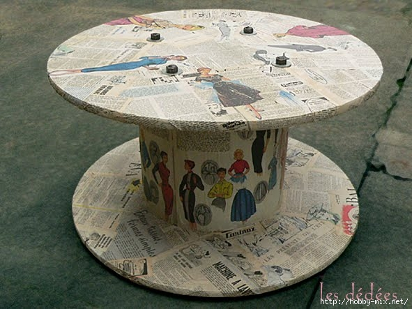 table-basse-creation-bobine-touret-recup-idees-recup-collage-vintage-années-50-les-dedees-custom-customisation (591x443, 171Kb)