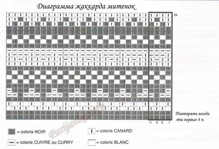 диаграмма жаккарда митенок (700x477, 211Kb)