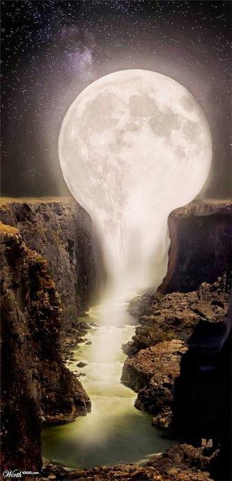 Луна течёт ручьём (337x700, 82Kb)