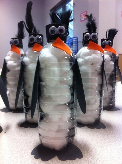 Поделки из бутылок своими руками пингвин