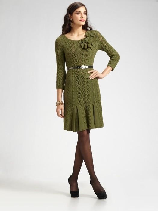 针织束腰连衣裙 - 紫苏 - 紫苏的博客