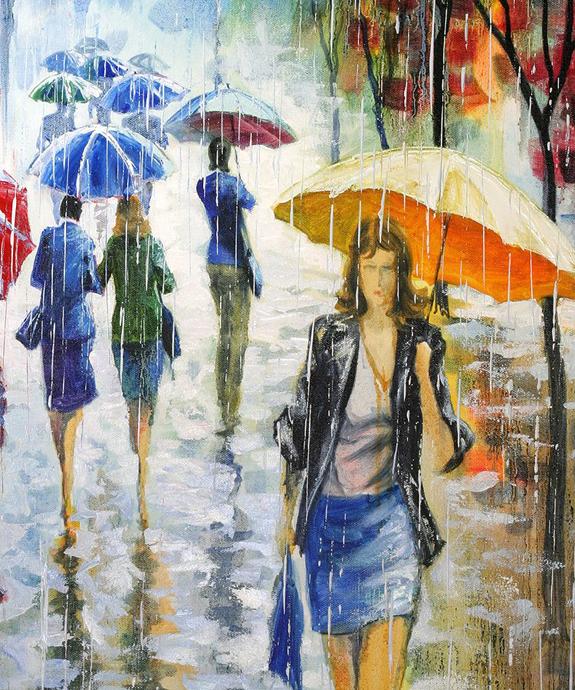Художник который рисует дождь песня