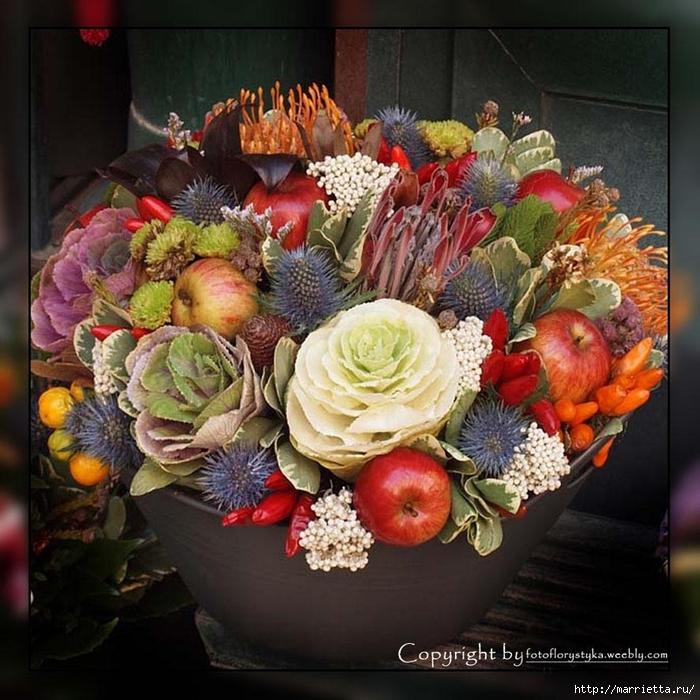 Осенняя флористика. Красивые идеи для украшения интерьера (14) (700x700, 357Kb)