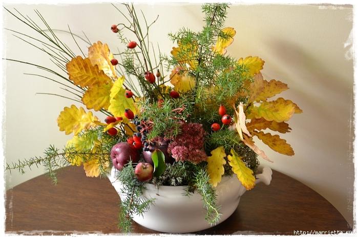 Осенняя флористика. Красивые идеи для украшения интерьера (27) (700x466, 296Kb)
