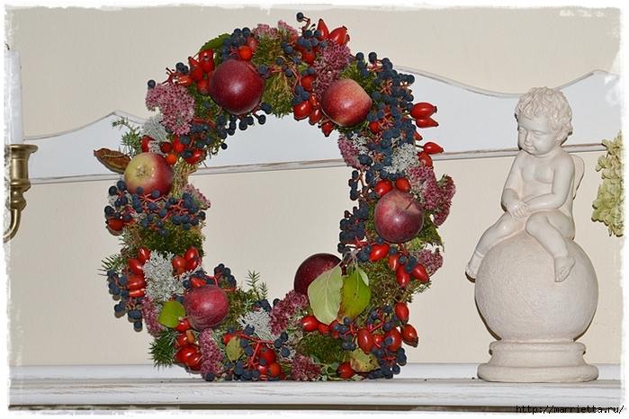 Осенняя флористика. Красивые идеи для украшения интерьера (29) (700x466, 280Kb)