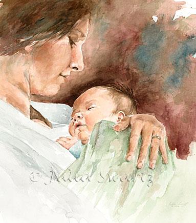 """Схема вышивки  """"Мать и дитя """" ."""