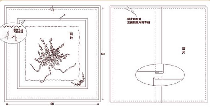 Урок вышивки лентами букетика на подушке (8) (700x356, 159Kb)