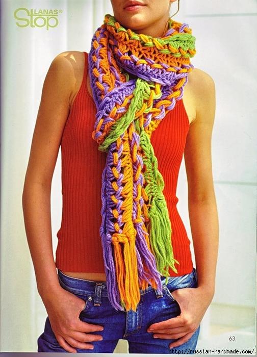 Вязание на линейке. Модный шарф для девушки (1) (504x700, 301Kb)
