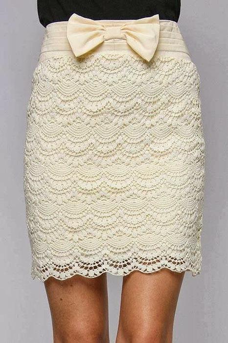 falda blanca patrones de