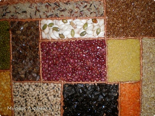 Панно из зерен, крупы и семечек для украшения кухонного интерьера (8) (520x390, 174Kb)