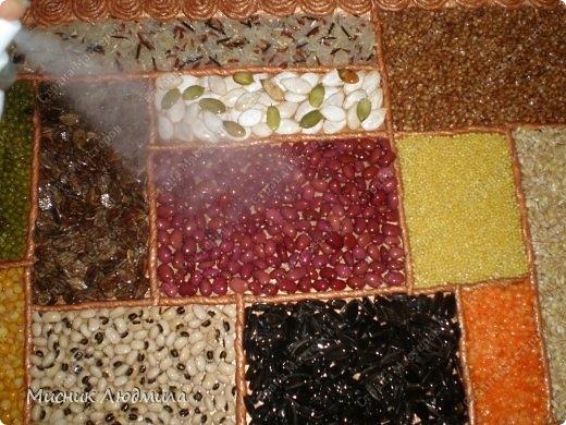 Панно из зерен, крупы и семечек для украшения кухонного интерьера (9) (520x390, 170Kb)