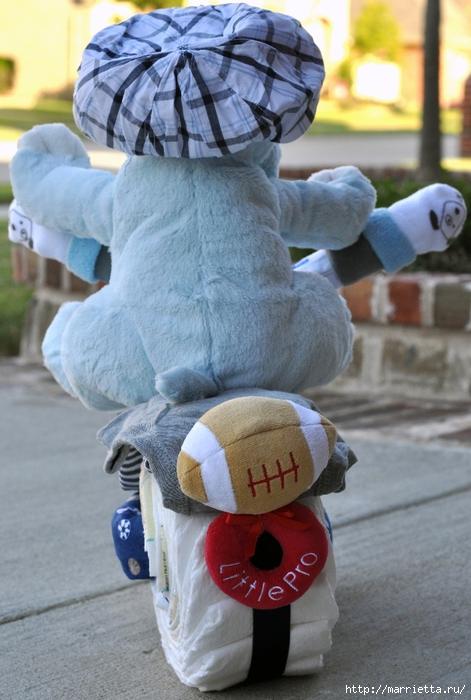 Motocicleta de los pañales - el mejor regalo para un recién nacido.  Master Class (14) (471x700, 257Kb)